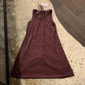 Suede Purple dress